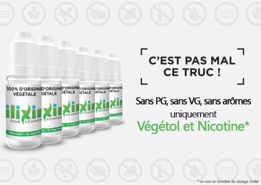 Ilixir : les e-liquides sans PG et sans VG