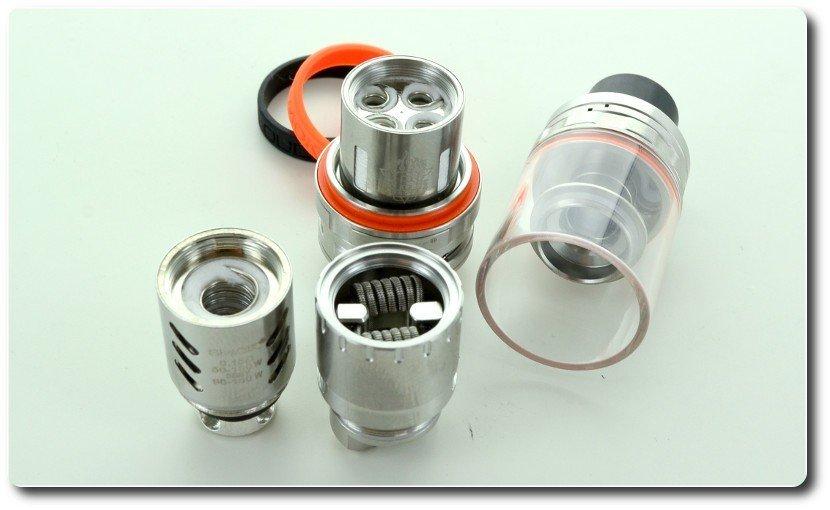 Des résistances jusqu'à 8 coils pour cet atomiseur TFV8 de chez Smok