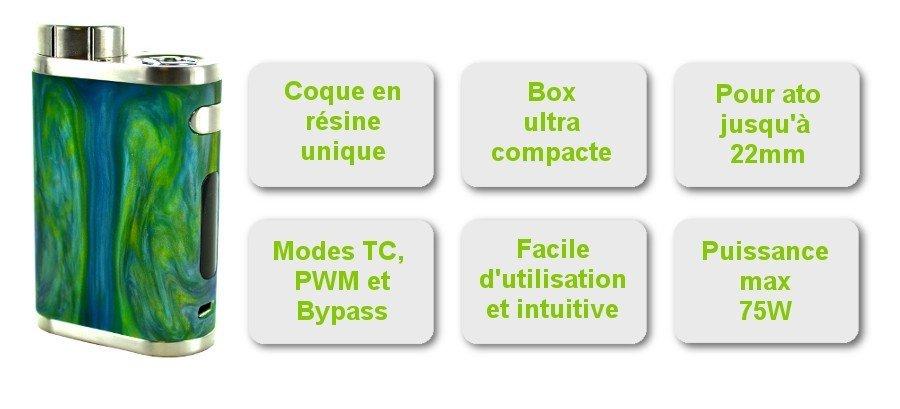 Caractéristiques Box iStick Pico Résine
