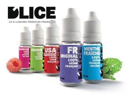 E-liquide pour cigarette électronique DLICE France