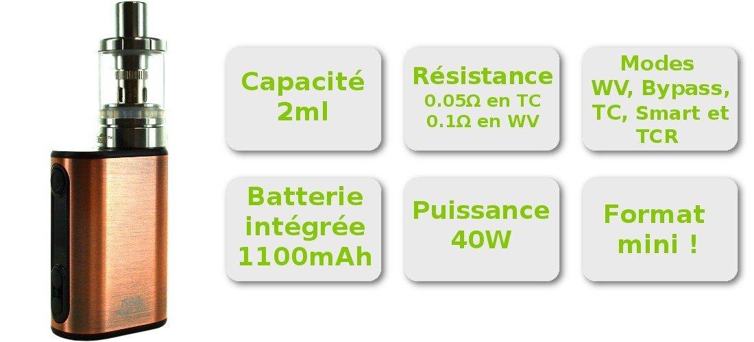 Caractéristique de l'iStick Power Nano 40W TC Eleaf