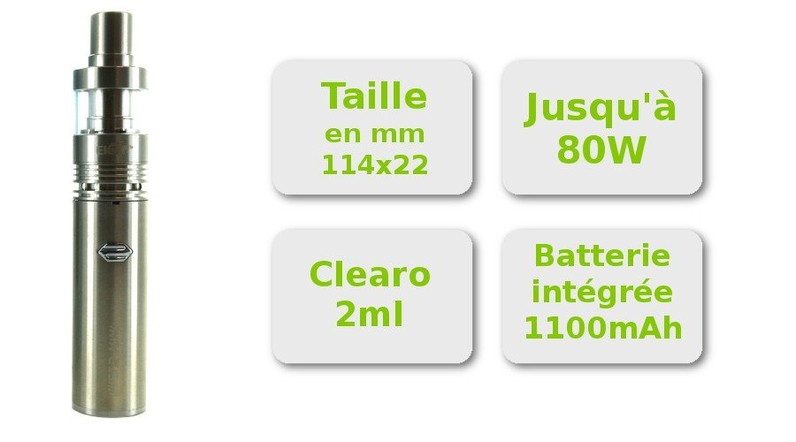 Caractéristique kit e-cigarette iJust 2 Mini Eleaf