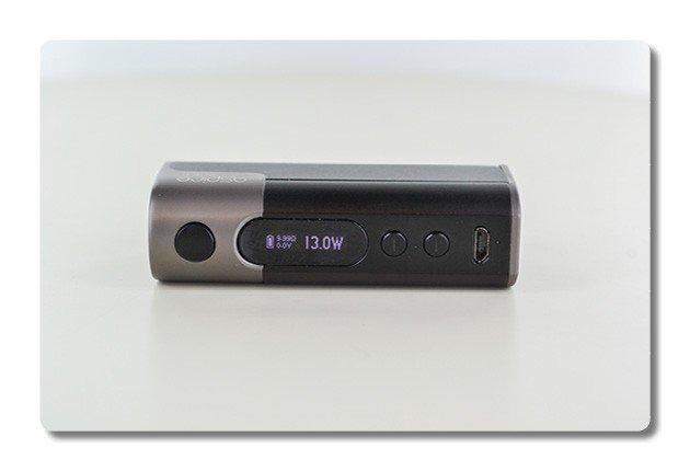 L'ecran OLED de la box Zelos50W d'Aspire