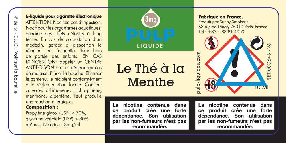 E Liquide Pulp Thé à la Menthe - Pulp à 5,90 € - VAPOCLOPE