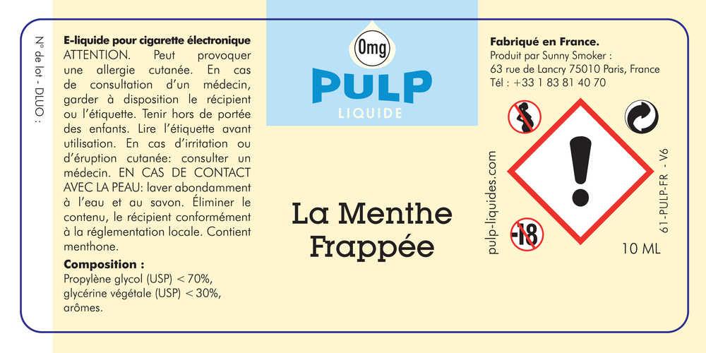 E Liquide Pulp Menthe Frappée - Pulp à 5,90 € - VAPOCLOPE