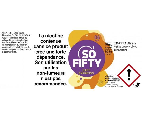 E-liquide Alfaliquid So Fifty Café Expresso - VAPOCLOPE